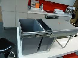 Kitchen Cupboard Garbage Bins by Dual Pull Out Garbage Bins 2 X 20 Litre Kitchen Cupboard Heavy