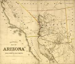 Old Map Map Of Arizona
