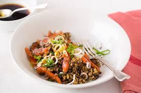 cuisine santé express salade santé express salade de céréales et lentilles au saumon