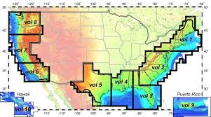 map usa oceans depth maps