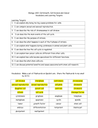 unit 4 study guide cell cycle u0026 division cancer stem cells