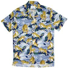 libertine libertine cave shirt hocus blue tiger print u2013 beaubien