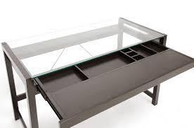 Glass Modern Desk Baxton Studio Idabel Brown Wood Modern Desk W Glass Top