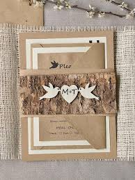 burlap wedding invitations rustic wedding invitations 20 wedding invitation suite tree
