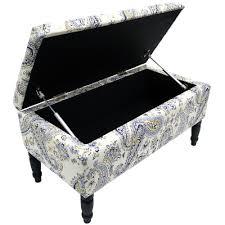 paisley storage ottoman stool blanket box padded trunk