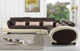 creme pour canape cuir canapé d angle en cuir marron et crème 5 places brava teck in home