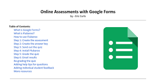 online assessments with google forms google docs