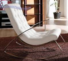 Rocking Chair With Cushions Amazing Modern Rocking Chair With White Leather Cushion Rocking