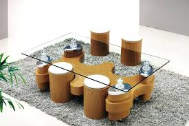 Coffee Table With Stools Underneath Coffee Tables Coffee Table With Seating Cubes Round Coffee Table