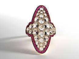 ruby engagement rings russian calibre cut ruby diamond ring