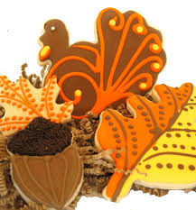 festive thanksgiving cookies fancy flours where bakers bloom