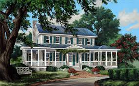 Small Country Houses Low Country House Plans Southern Living With Porches Sl 187 Hahnow