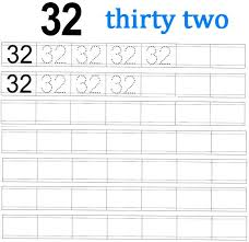 worksheet on number 32 preschool number worksheets number 32