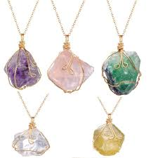 crystal stone pendant necklace images Wholesale natural crystal quartz stone necklace gemstone pendant jpg