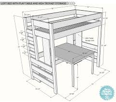 Make Bunk Bed Desk by Diy Loft Bed With Desk And Storage