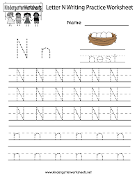 kindergarten letter writing practice worksheet printable kids