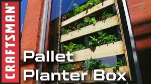 how to build a window flower box how to make a vertical pallet planter box craftsman youtube
