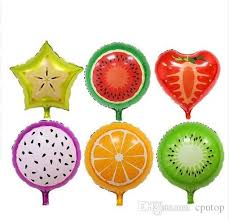 send balloons fruit foil balloons orange strawberry watermelon helium air balls