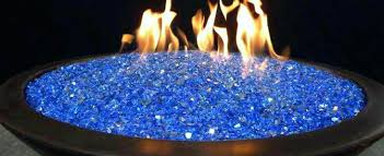 Glass Firepits Propane Pit With Glass Rocks Gaslight Gas Lights Pits