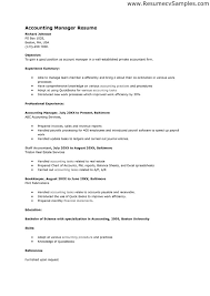 Sample Resume For Accounting Sample Resume For Accounting Position Nardellidesign Com