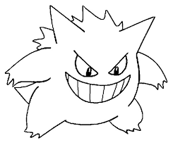 pokemon coloring pages totodile gengar google search pokemon dashers pinterest