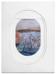 jim darling u0027s airplane window seat paintings frame landscapes from