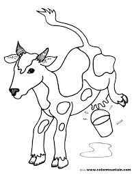 milk coloring pages kicking cow coloring page create a printout or activity