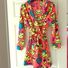 emoji robe justice other emoji hooded robe poshmark