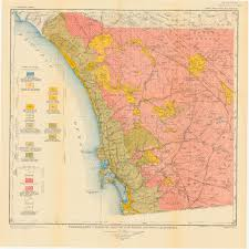 San Diego California Map by Sdag Online Historical Geological Maps San Diego County