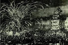 siege liberation file fireworks in brussel 1686 in conmemoration of the liberation
