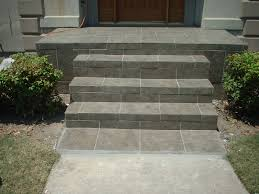 Removing Paint From Concrete Steps by Slate Tile Front Porch And Steps Future House Enhancements