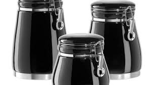 black canister set 3 pc canister set black and white canister sets