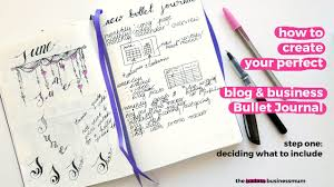 planning my blog u0026 business bullet journal youtube
