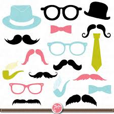 Photo Booth Accessories Mustaches Clip Art Spectacles Photo Booth Printables Tie Best