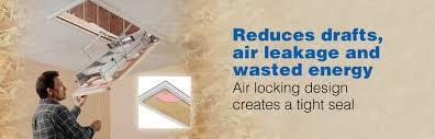 werner ae series energy seal universal aluminum attic ladders