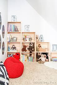 Crate Bookcase Diy Crate Bookcase Maison De Pax