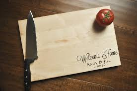 engraved cutting board wedding gift welcome home cutting board engraved cutting board custom personalize