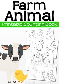 printable farm animal counting book farm animals literacy