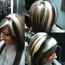 all over color with chunky blonde hilights by me hair