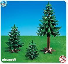 amazon com playmobil large small pine trees toys