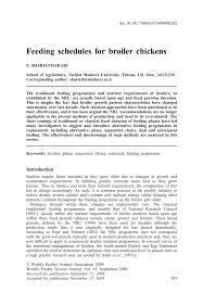 feeding schedules for broiler chickens pdf download available