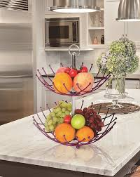 fruit basket stand fruit basket stand by luxe premium purple 2 tier