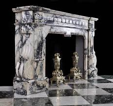 this looks like a french baroque fireplace because it is made of