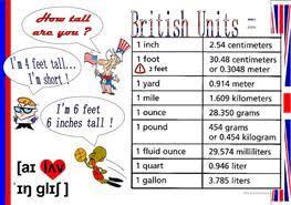 2 free esl metric system worksheets