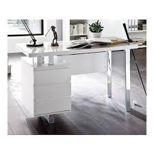 bureau blanc brillant bureau blanc laque dans bureau achetez au meilleur prix avec