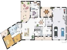 plan de maison gratuit 4 chambres chambre plan maison plain pied 4 chambres de luxe plan maison