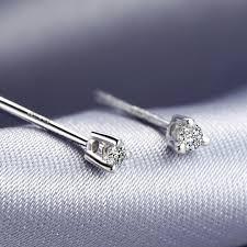 small diamond earrings 2017 new 0 06ct diamond earrings gold 18k luxury jewelry for women