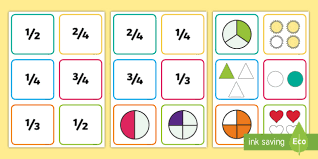 ks1 quarters thirds and halves fraction cards recognising