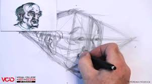 learn how to draw an old man u0027s face in two point perspective part