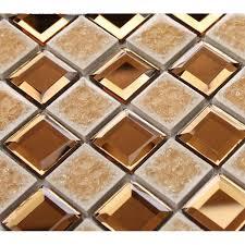 brown glass mosaic mirror tiles backsplash designs bathroom